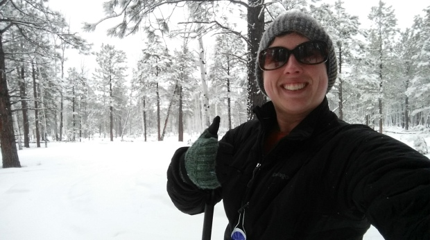 Author on Cross Country Ski Trail