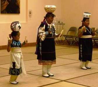 Zuni Dancers with pots on their heads